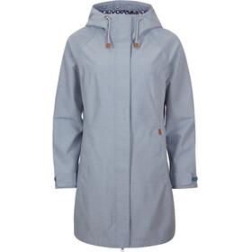 Elkline Offline Rain Coat Women blue-denim